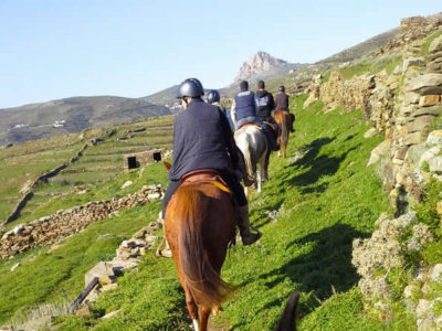 Horse riding in Tinos island