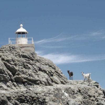 Lighthouse in Livada, Tinos, Greece